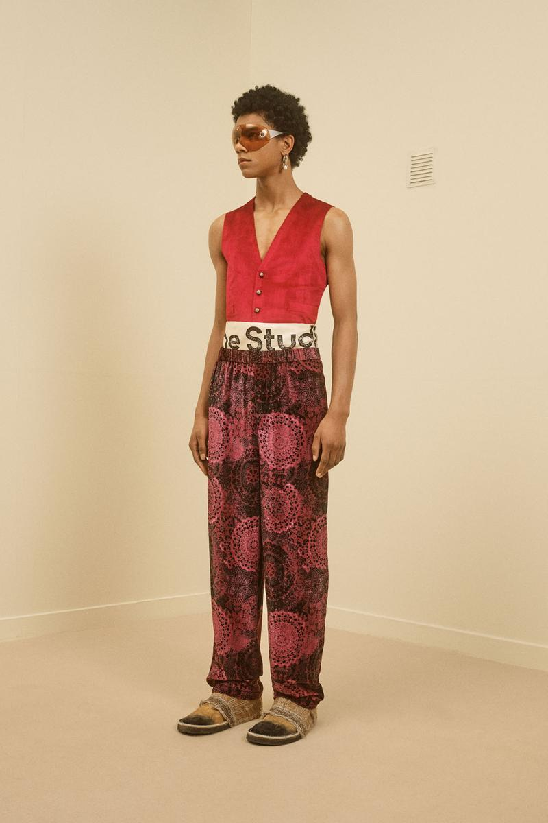 acne studios menswear fall winter 2021 fw21 collection lookbook vest logo pants
