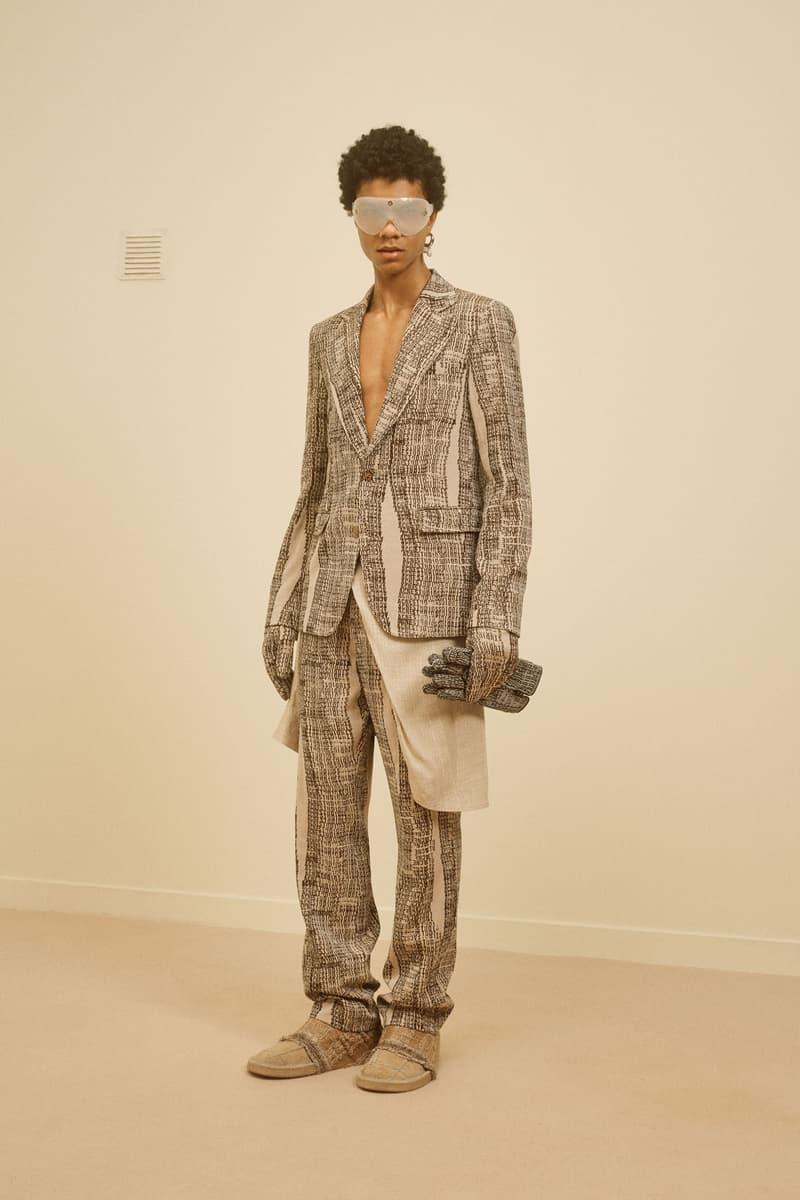 acne studios menswear fall winter 2021 fw21 collection lookbook tweed pattern jacket suit