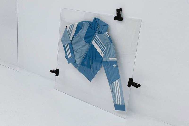 danielle cathari adidas originals collaboration denim deconstructed track jacket online auction