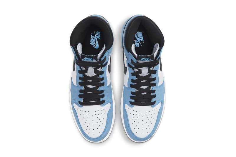 "Nike Air Jordan 1 ""University Blue"" Release Date Information Sneaker"