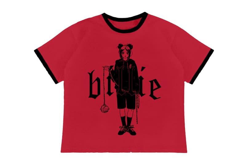 billie eilish blohsh merch the worlds a little blurry documentary collection hoodies red tshirt