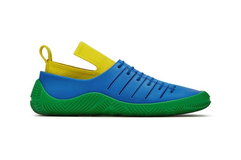 bottega veneta salon 01 footwear collection daniel lee barefoot second skin green blue yellow