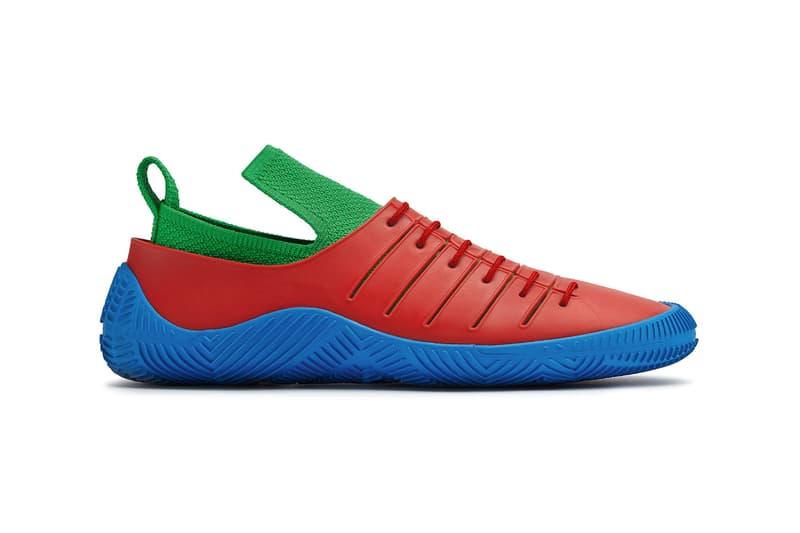 bottega veneta salon 01 footwear collection daniel lee barefoot second skin green red blue