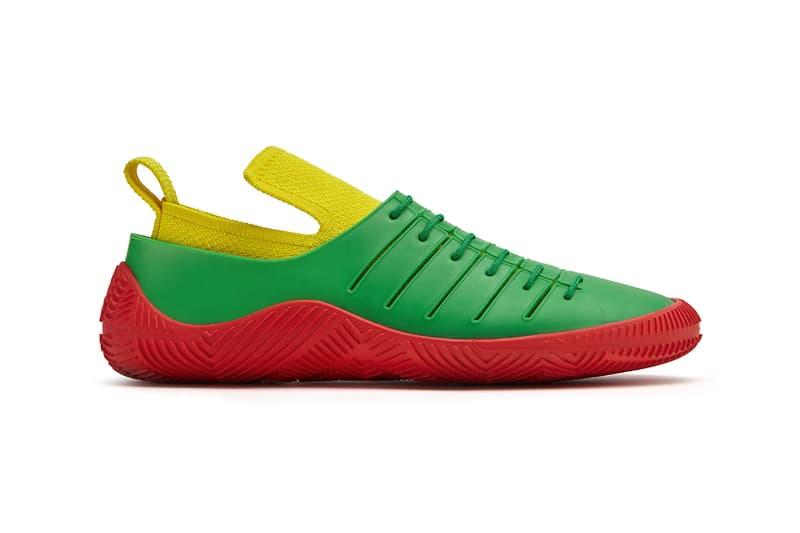 bottega veneta salon 01 footwear collection daniel lee barefoot second skin red yellow green