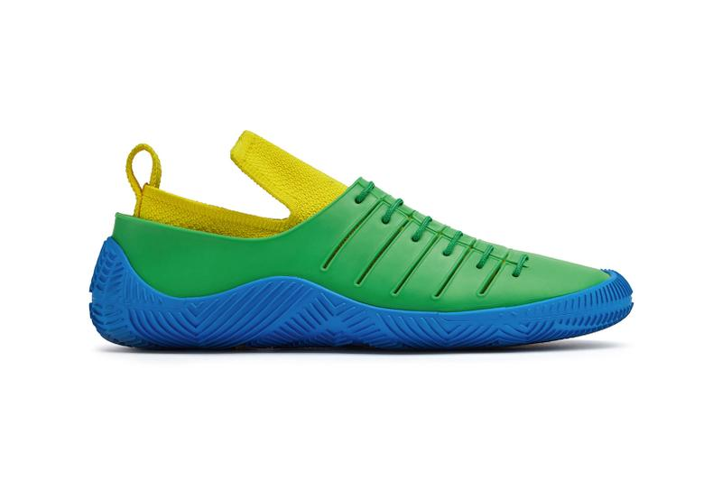 bottega veneta salon 01 footwear collection daniel lee barefoot second skin blue green yellow