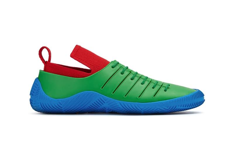 bottega veneta salon 01 footwear collection daniel lee barefoot second skin blue red green