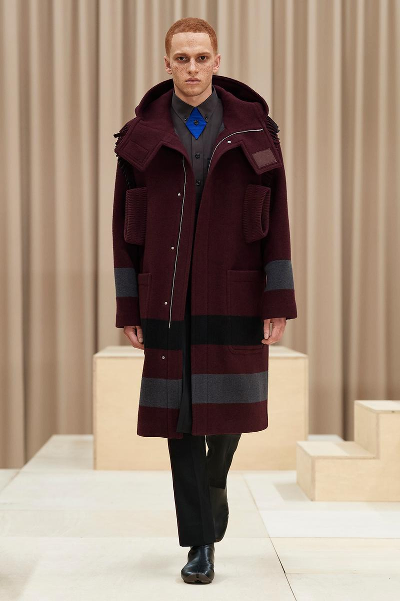Burberry Fall/Winter 2021 Mens Escapes Show Collection Riccardo Tisci Varsity Jacket