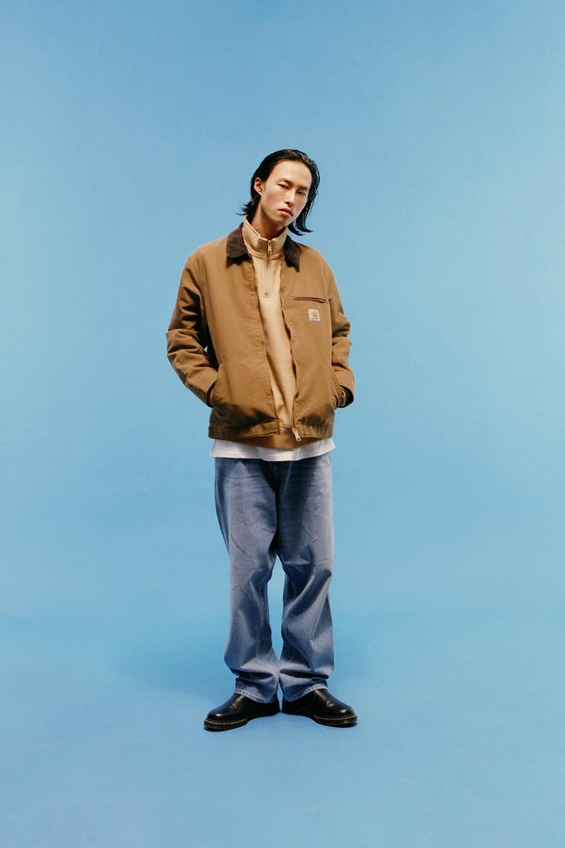 carhartt wip icons patina spring summer collection outerwear jacket jeans shoes