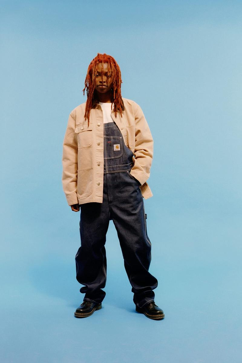 carhartt wip icons patina spring summer collection outerwear jacket denim overalls