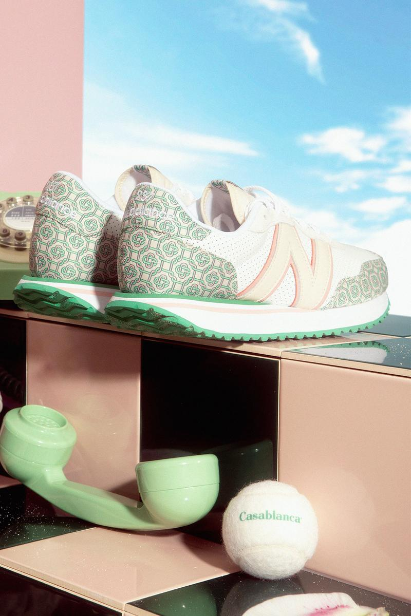 casablanca new balance nb 237 sneakers collaboration