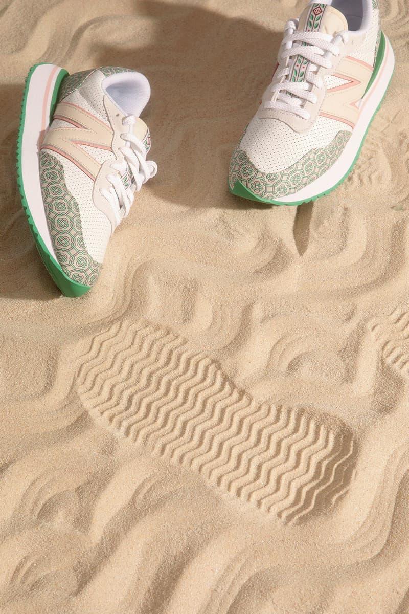 casablanca new balance sneakers collaboration nb 237 sand beach