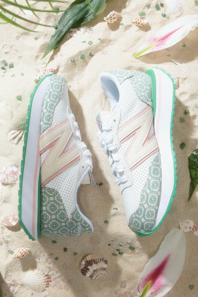 casablanca new balance sneakers collaboration nb 237 sand beach flowers