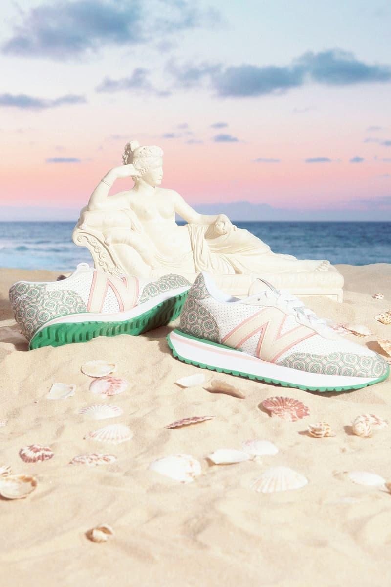 casablanca new balance sneakers collaboration nb 237 sand beach sky