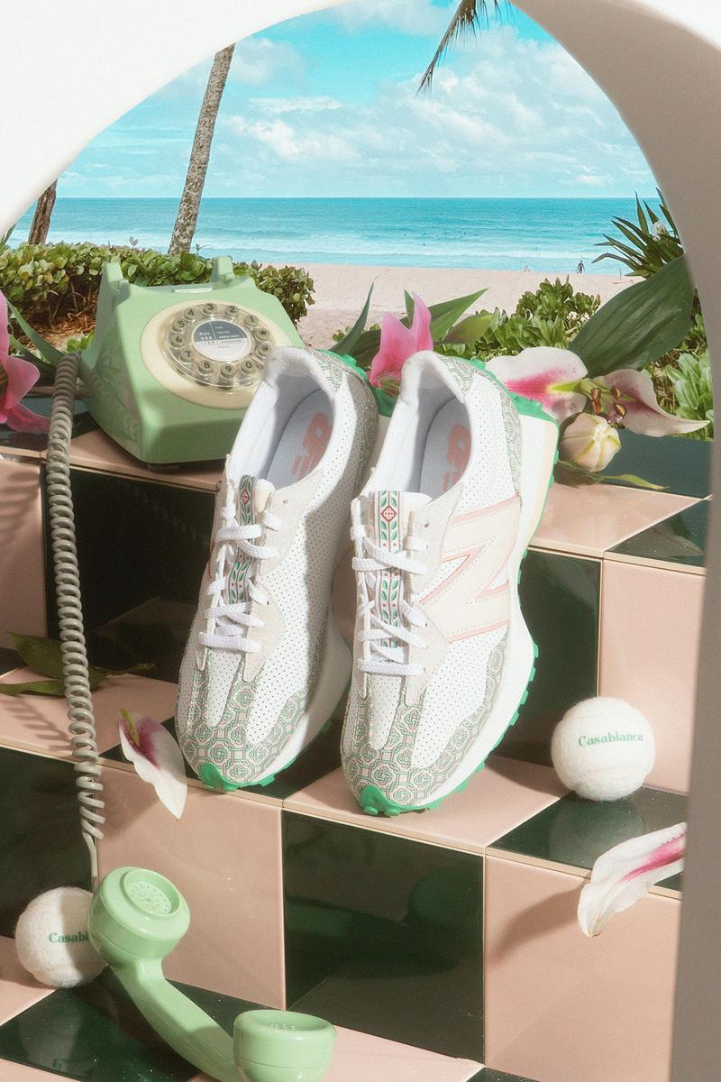 casablanca new balance sneakers collaboration nb 327