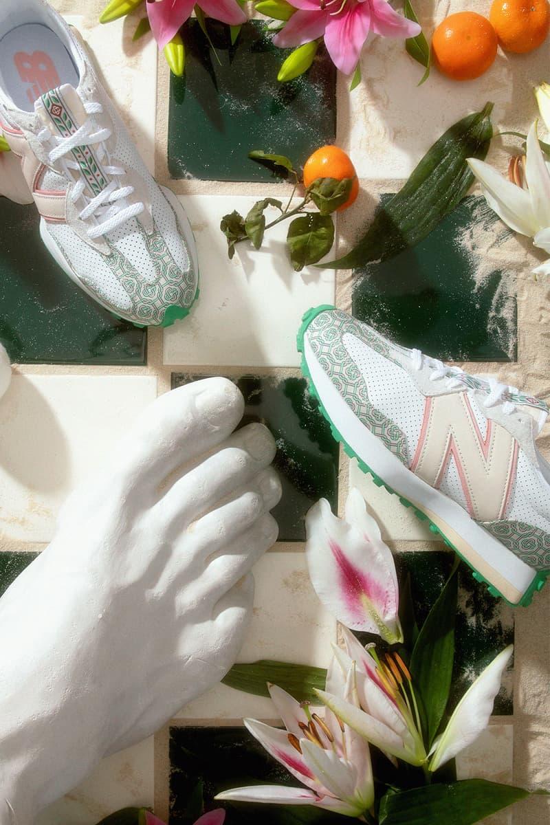 casablanca new balance sneakers collaboration nb 327 sculptures fruits flowers