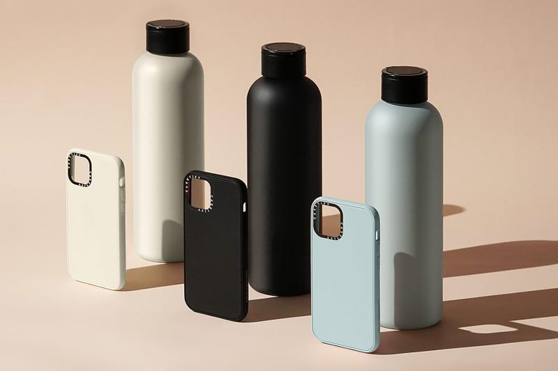 casetify customizable water bottles sustainable home accessories cream white black blue