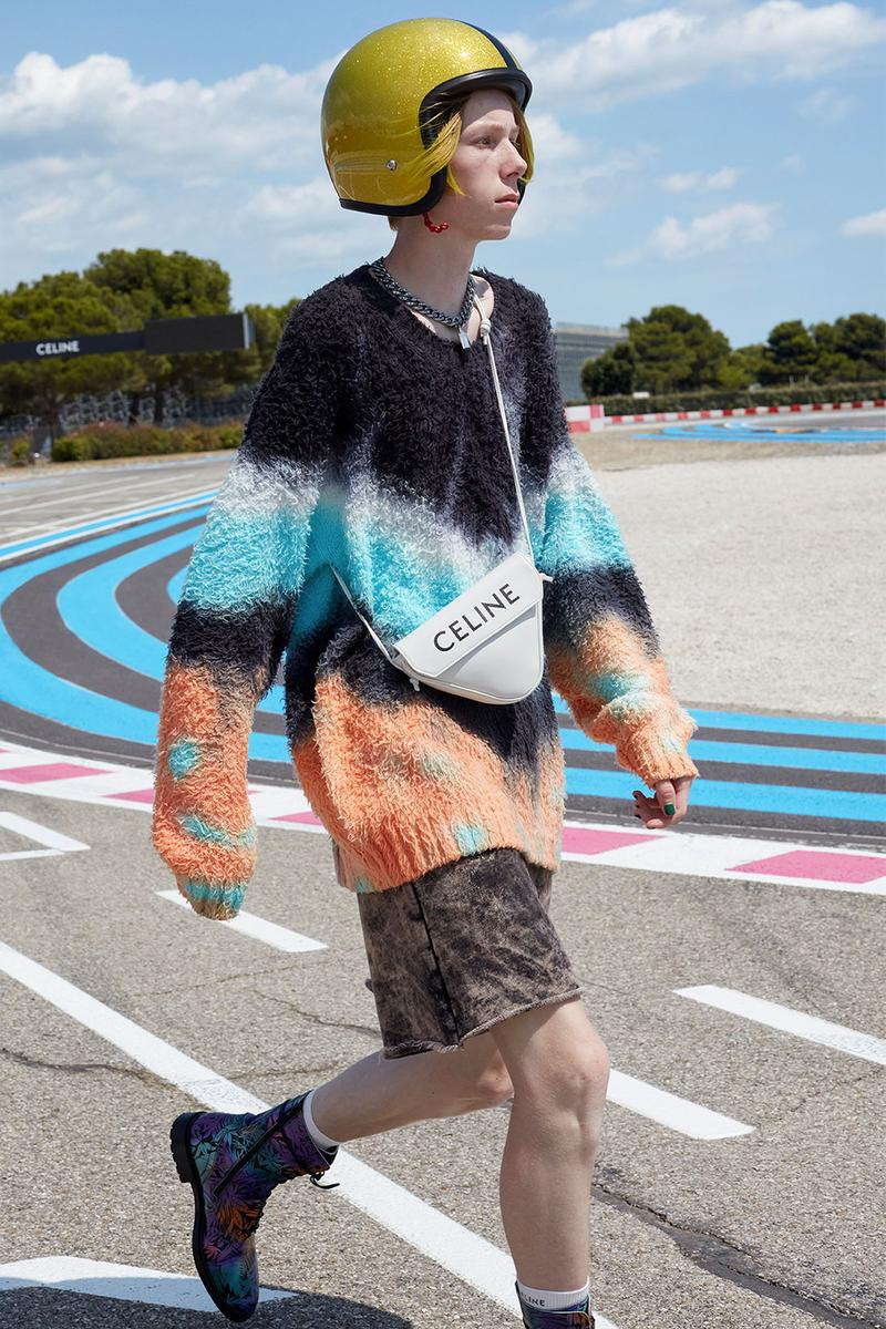 celine homme triangle bag purse spring 2021 ready to wear runway