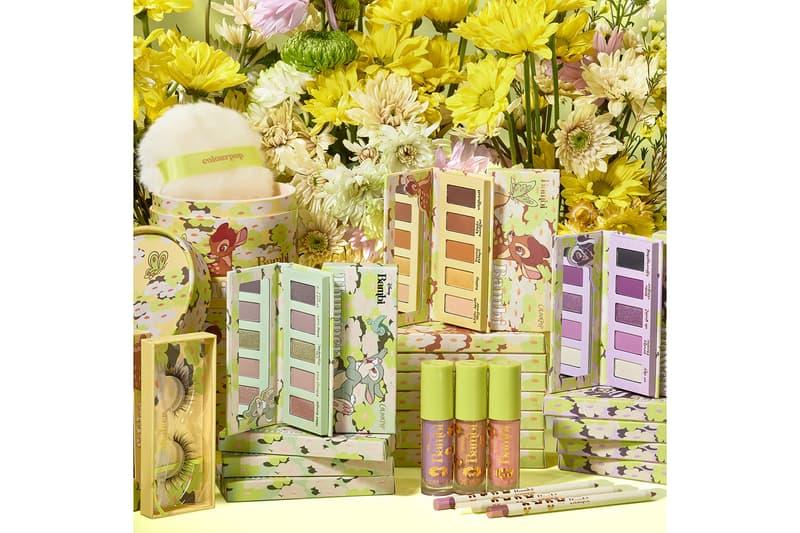 colourpop cosmetics disney bambi collaboration eyeshadow lip gloss eyeliner makeup eyelashes