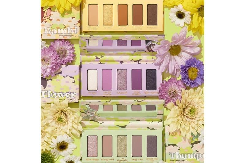 colourpop cosmetics disney bambi collaboration eyeshadow green purple yellow