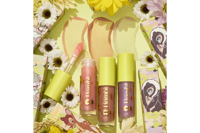 colourpop cosmetics disney bambi collaboration lip gloss pink purple brown