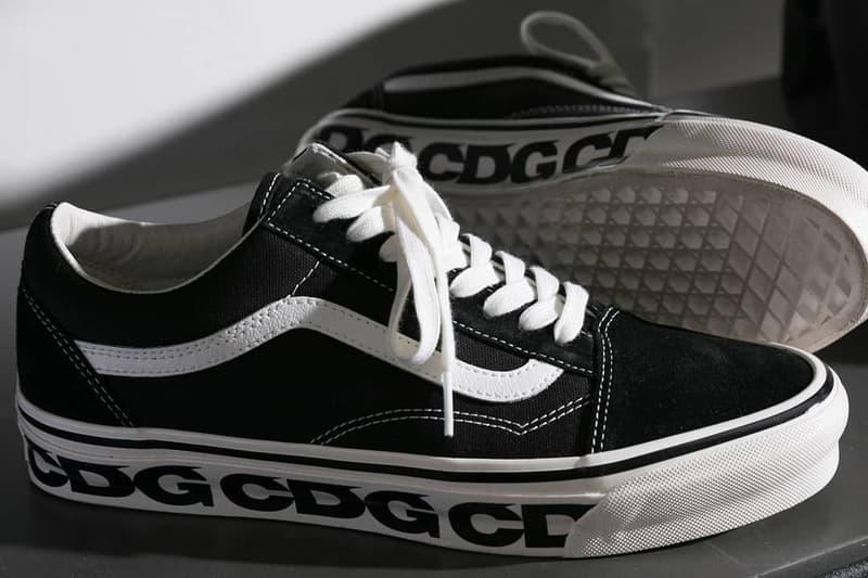 comme des garcons cdg vans old skool sneaker collaboration black white logo