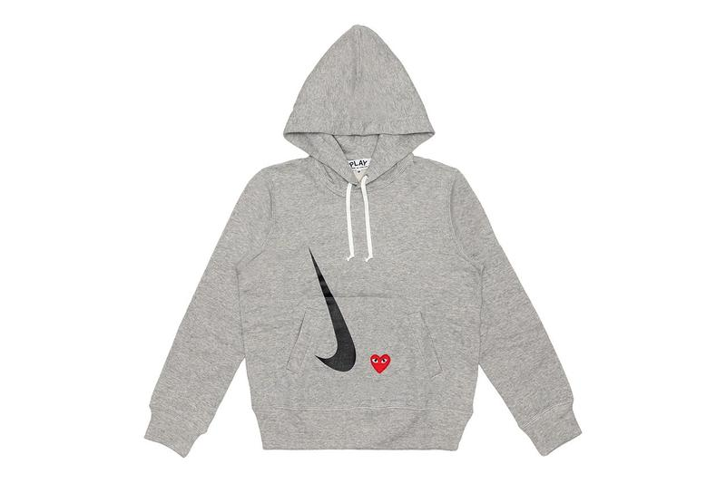 comme des garcons play cdg together capsule nike hoodie
