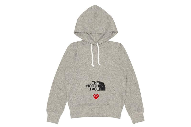 comme des garcons play cdg together capsule the north face tnf hoodie
