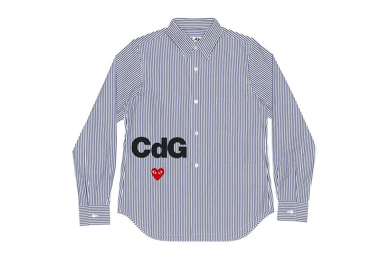 comme des garcons play cdg together capsule heart shirt stripes