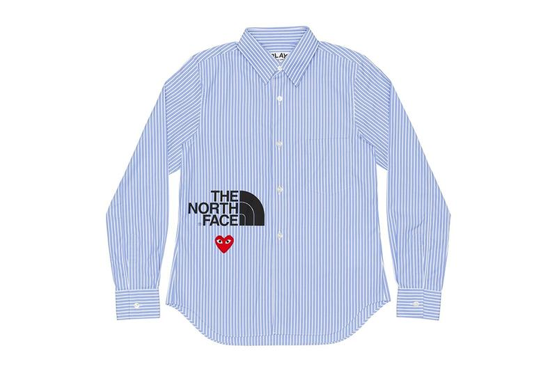 comme des garcons play cdg together capsule the north face tnf shirt