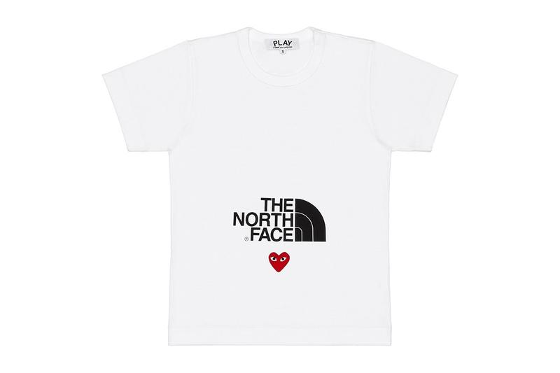 comme des garcons play cdg together capsule the north face tnf tshirt