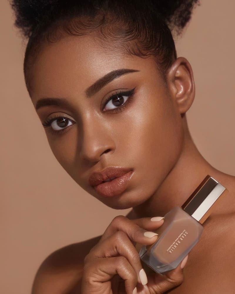 dear dahlia foundation vegan k-beauty makeup skin paradise sheer silk model face