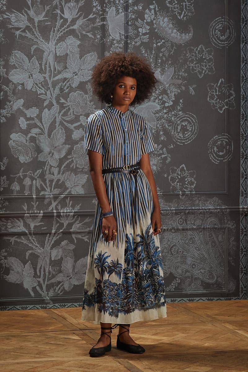 dio palms print summer collection dress belt sandals accessories