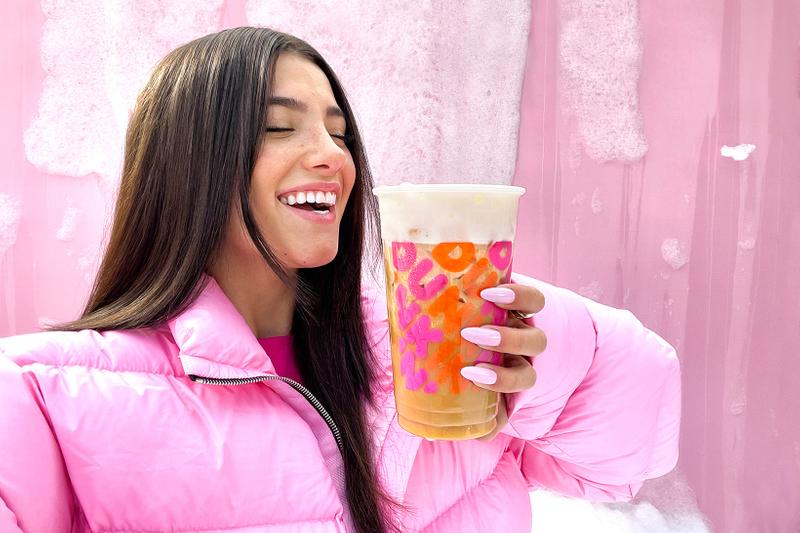 dunkin donuts charli damelio cold brew collaboration sweet cold foam coffee