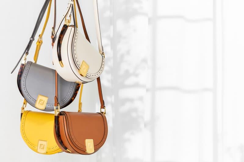 fendi moonlight bag cross body shoulder spring summer yellow beige brown