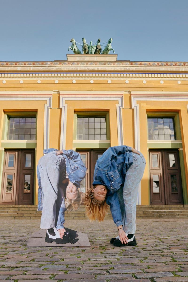 ganni levis denim jeans collaboration ss21 spring summer campaign jacket pants