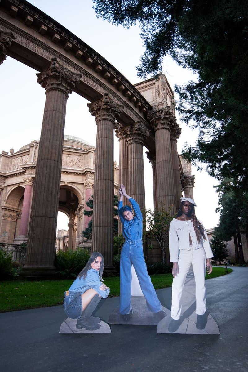 ganni levis denim jeans collaboration ss21 spring summer campaign jacket