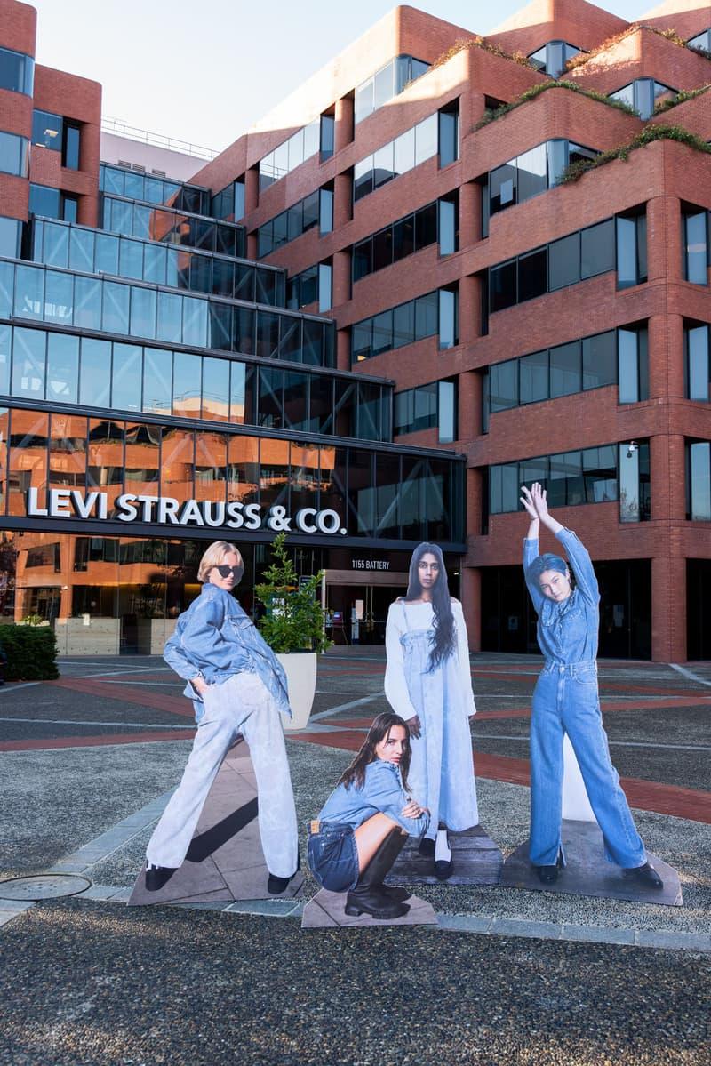 ganni levis denim jeans collaboration ss21 spring summer campaign jackets trousers dresses