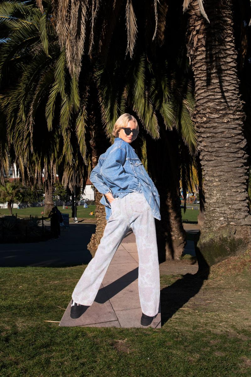 ganni levis denim jeans collaboration ss21 spring summer campaign trousers jackets