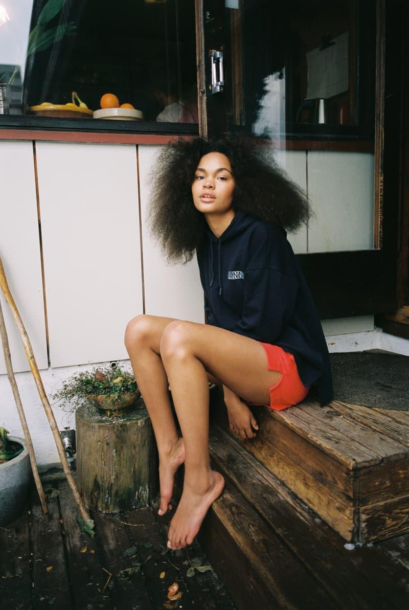 ganni software loungewear collection drop 3 hoodie logo shorts