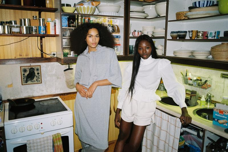 ganni software loungewear collection drop 3 comfy shorts dress
