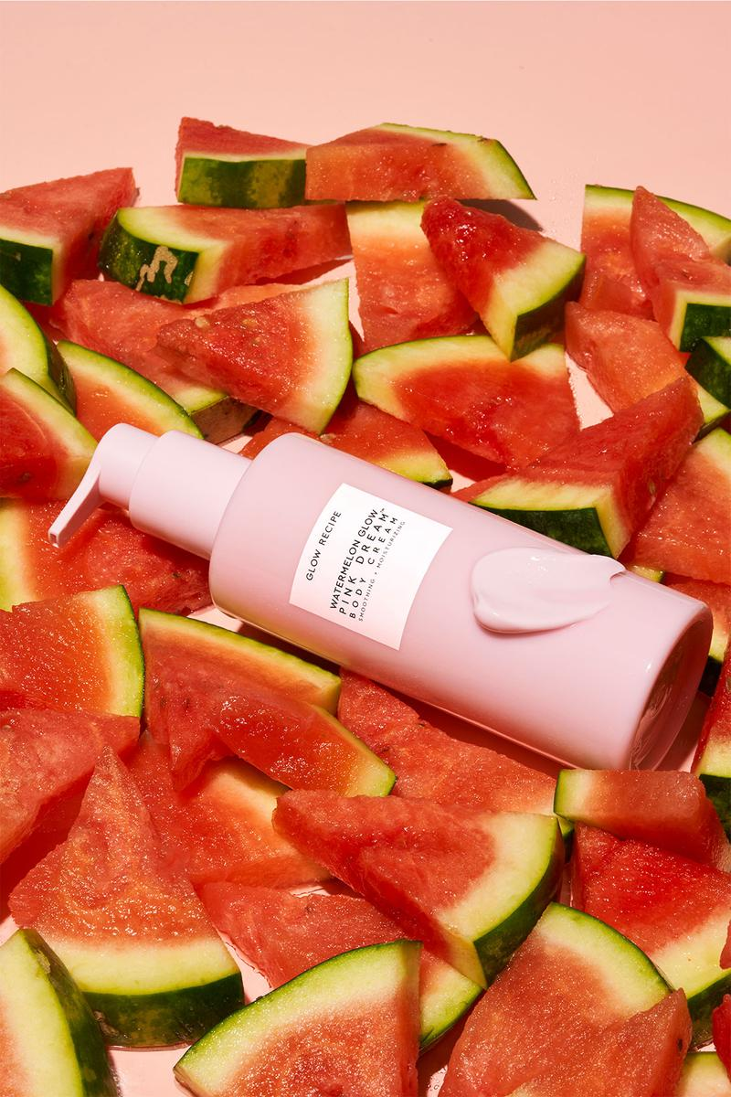 glow recipe Watermelon Glow AHA Pink Dream Body Cream care bottle