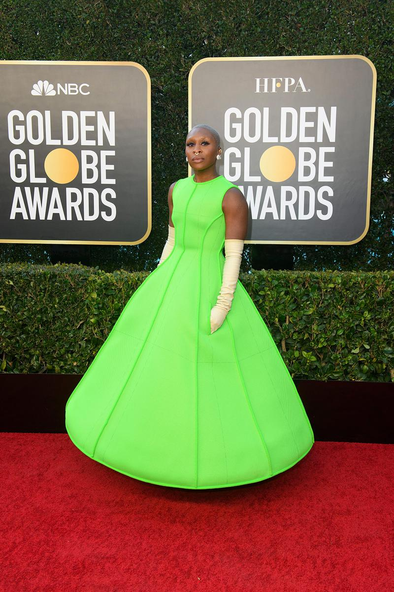 golden globes red carpet best dressed celebrities cynthia erivo valentino