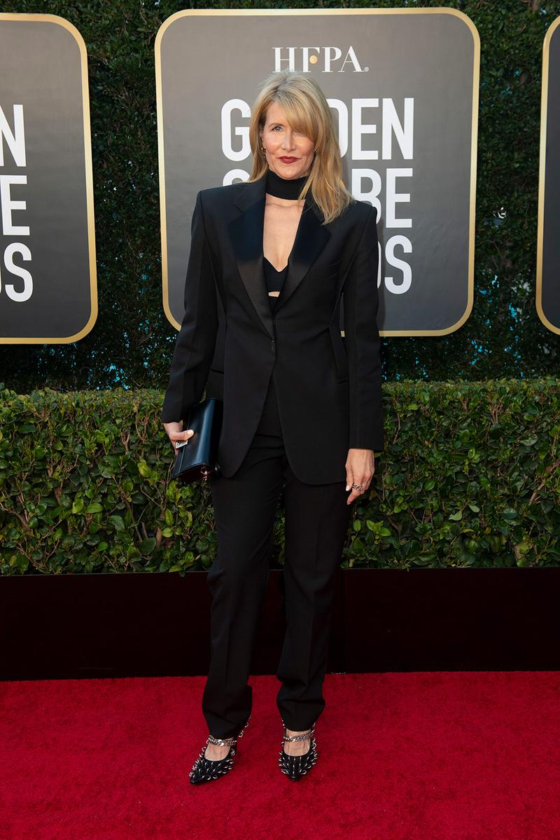 golden globes red carpet best dressed celebrities laura dern