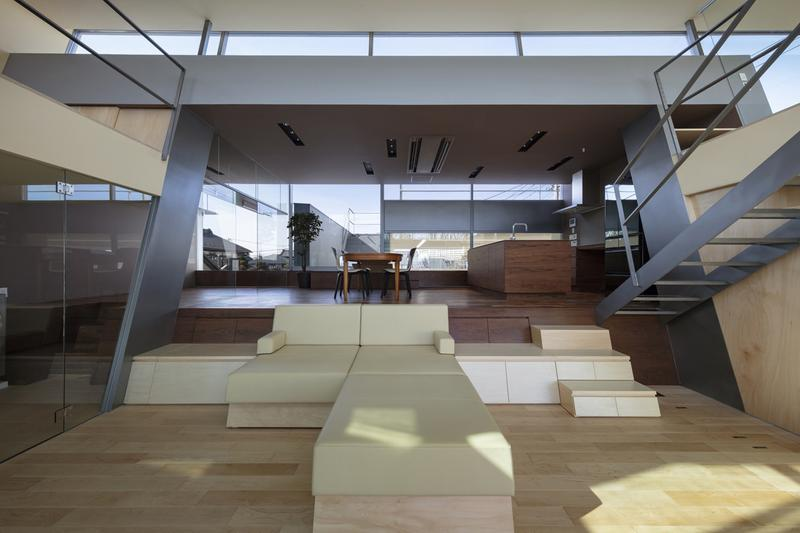 japan aisaka architects atelier house in tsukuba interior home design couch sofa