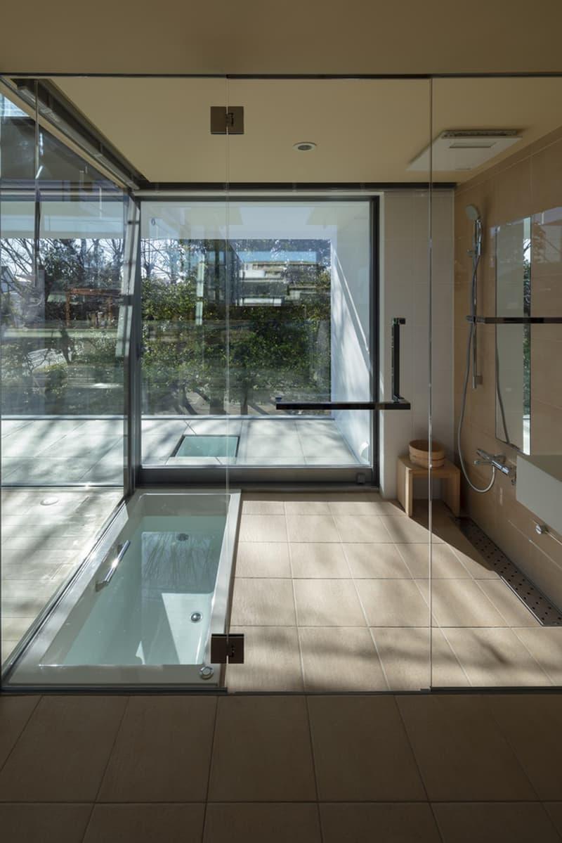 japan aisaka architects atelier house in tsukuba interior home design shower bathroom
