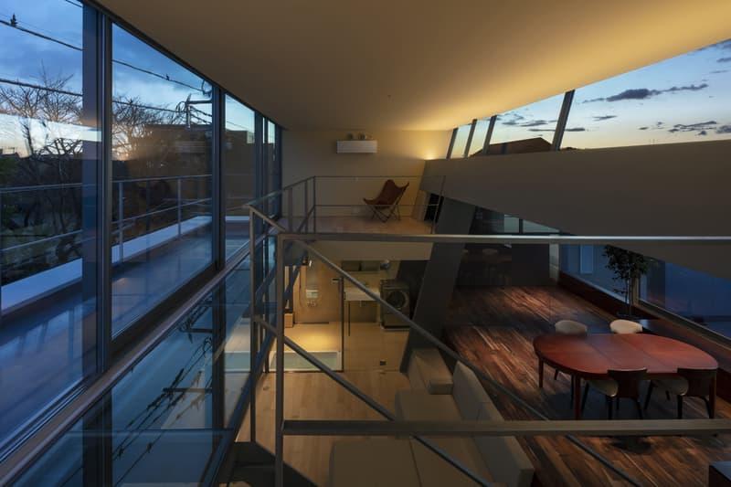 japan aisaka architects atelier house in tsukuba interior home design stairs windows balcony