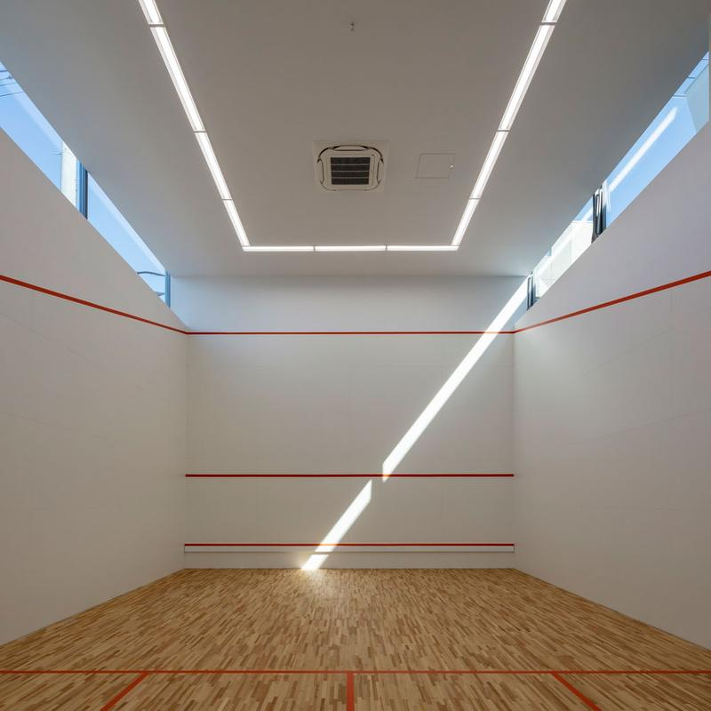 japan aisaka architects atelier house in tsukuba interior home design squash court