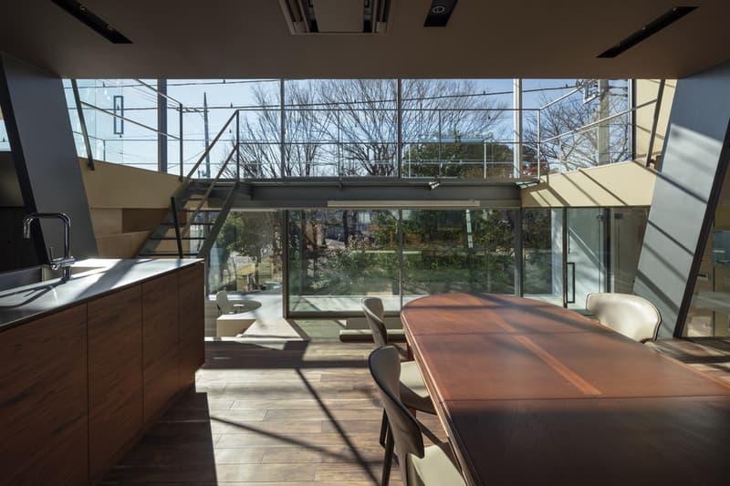 japan aisaka architects atelier house in tsukuba interior home design table sink kitchen