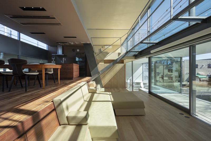 japan aisaka architects atelier house in tsukuba interior home design couch window