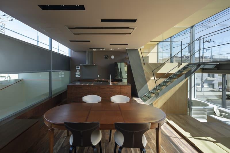 japan aisaka architects atelier house in tsukuba interior home design dining table kitchen